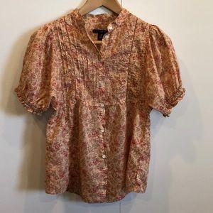 Gap floral print blouse